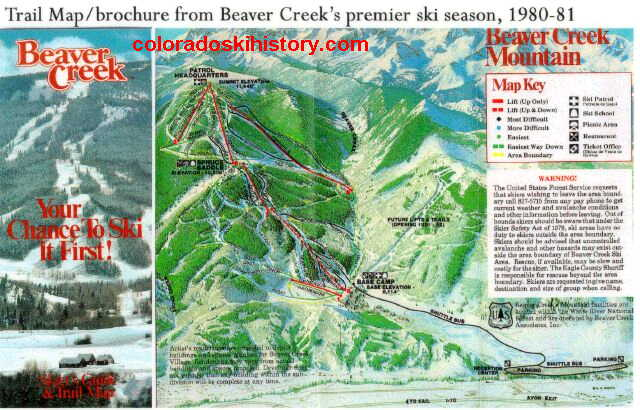 The History Of Beaver Creek Resort - Beaver creek ski trail map