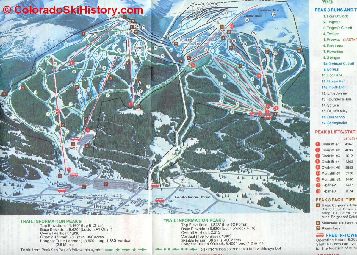 history of the breckenridge ski area