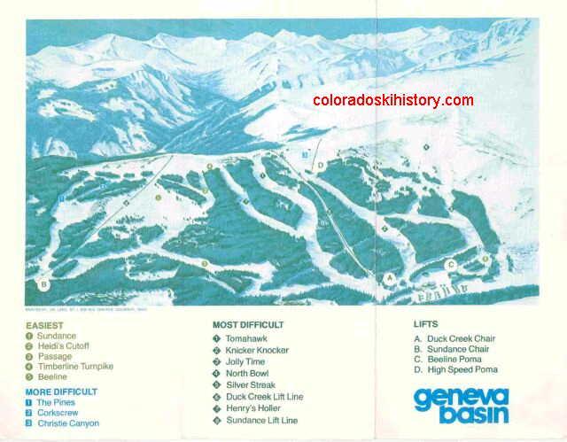 Ski Area Colorado Map.Geneva Basin Ski Area