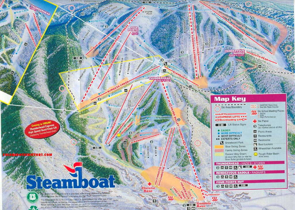 History of the Steamboat Ski Area