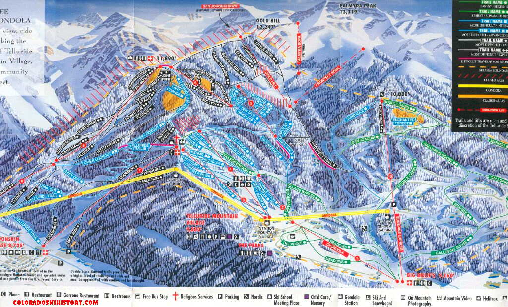 The History of Telluride Ski Area on colorado hot springs map, st martin resorts map, colorado skiing, lake tahoe map, colorado ski country map, arapahoe basin map, colorado map with cities, california map, colorado hotels map, breckenridge map, grenada resorts map, colorado road map, colorado snowboarding, colorado state map, ski granby ranch map, summit county colorado map, alaska map, royal gorge canon city colorado map, bristol mountain ski resort trail map, vail map,